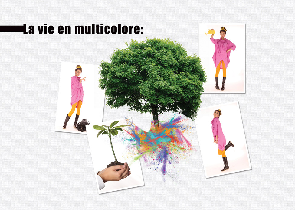 Photos d'origine - La vie en multicolore